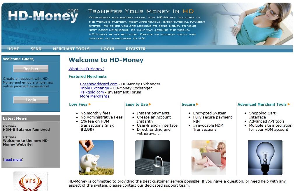 Online Payment Systems : HD-Money full description